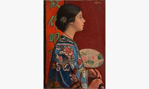 藤島武二《東洋振り》1924(大正 13)年