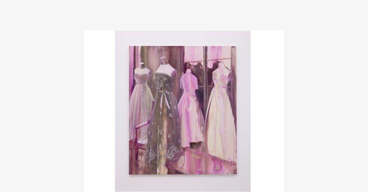 佐藤翠「Purple time dresses」acrylic and oil on canvas194.0x162.0cm